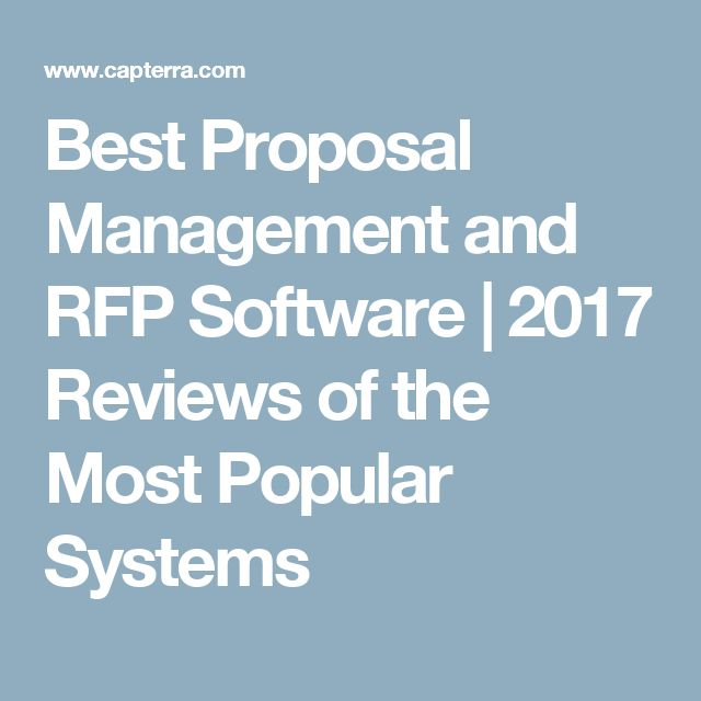 Best Proposal Management and RFP Software | 2017 Reviews of the Most Popular Systems