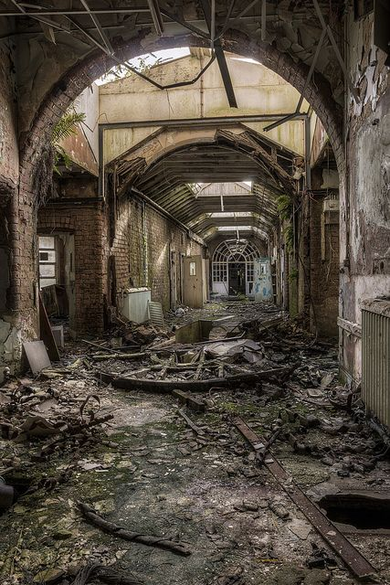 Whittingham Asylum- England So many cool photos here of this Asylum built in 1869 now just derelect buildings