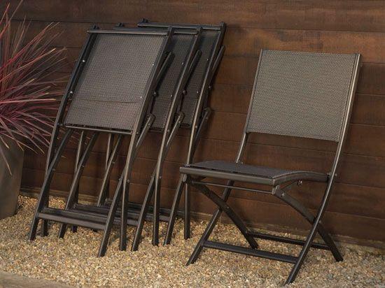 Scandinavian Designs - Outdoor Furniture - Metal Folding Chair/BK