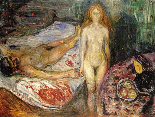 Edvard Munch - Death of Marat I, 1907