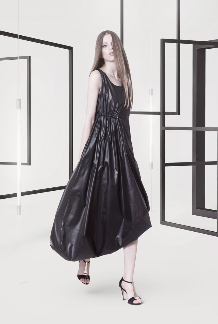 Cocoon Spring - Summer 2014 / Non collection / Black glossy dress.