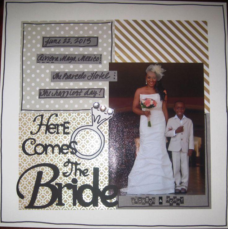 Wedding Scrapbook Layout Ideas