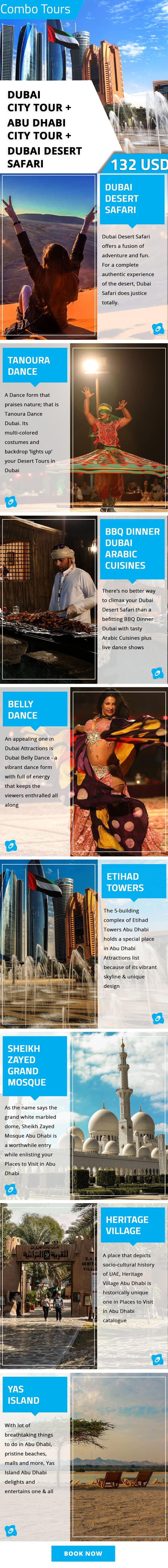 Combo Tours: Dubai City Tour + Abu Dhabi City Tour + Dubai Desert Safari
