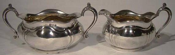 Queensland Bulldog Club Award Sterling Silver Cream & Sugar