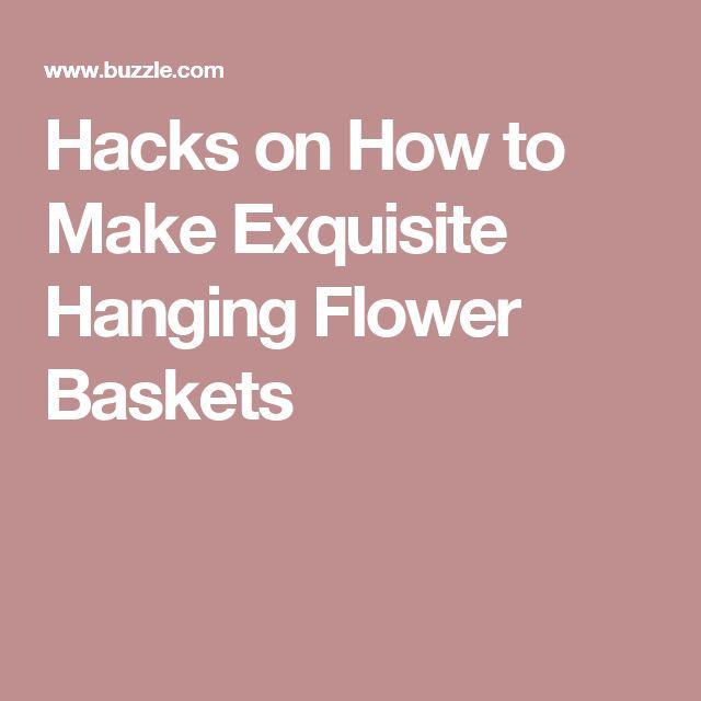 How to make hanging flower baskets summer : Best ideas about hanging flower baskets on