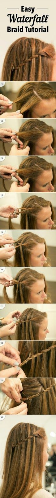 Easy Waterfall Braid Tutorial You Are Going to Want to Pin