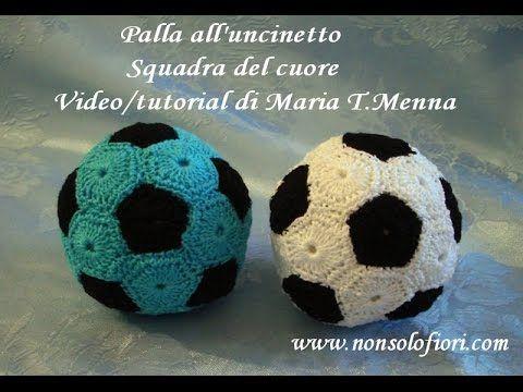 Palla all'uncinetto Squadra del cuore Ball crochet Video/tutorial www.nonsolofiori.com https://youtu.be/KI5XMBgl9ZY