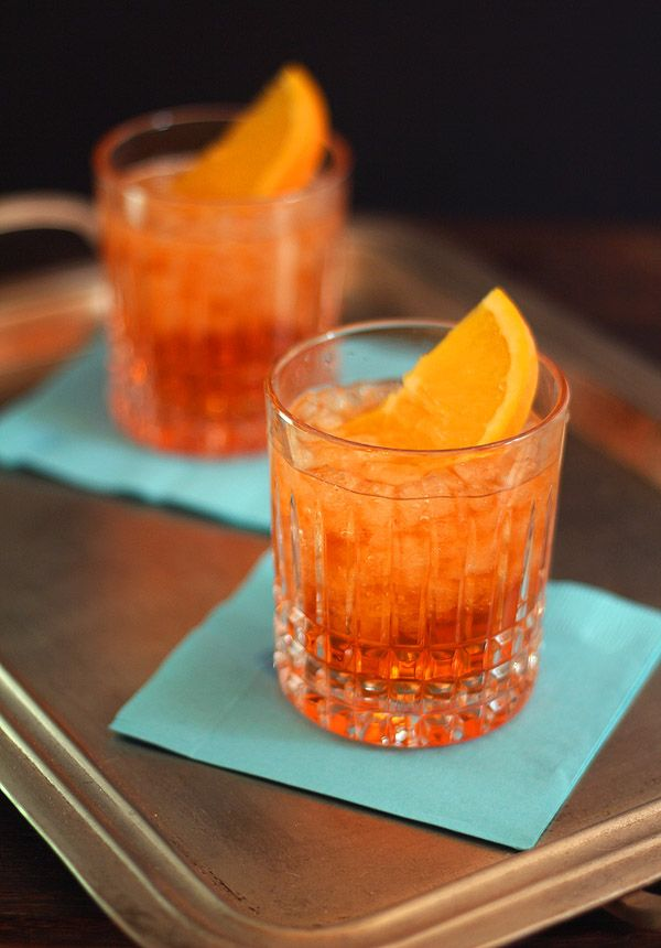 Aperol Spritz:  1.5 oz Aperol 3 oz Prosecco Club Soda Orange Slice for garnish Place ice cubes in a low ball glass. Add Aperol, then Prosecco, and top with soda. Gently mix and garnish with an orange slice. Enjoy!