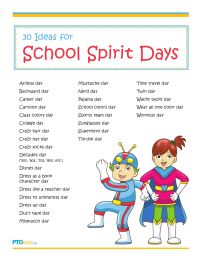 30 Ideas for School Spirit Days
