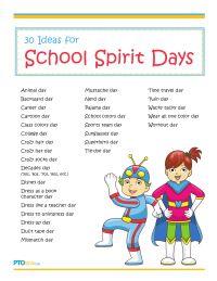 30 Ideas for School Spirit Days