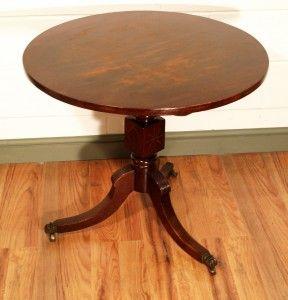 RARE REGENCY MAHOGANY AND BRASS INLAY TAROT READING TABLE CIRCA 1820