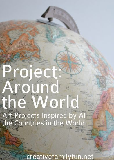Art projects inspired by all the countries in the world. What an amazing project!