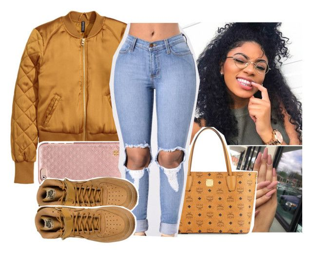 might quit polyvore by aribearie ❤ liked on Polyvore featuring Tory Burch, MCM and NIKE