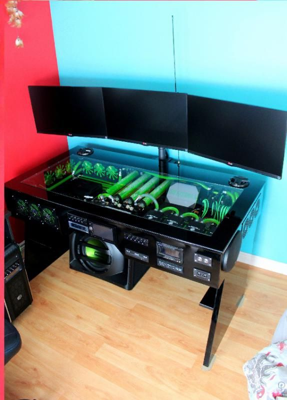 Scratch Build WATER COOLED PC DESK MOD WITH BUILT IN CAR SOUND SYSTEM - bit-tech.net Forums
