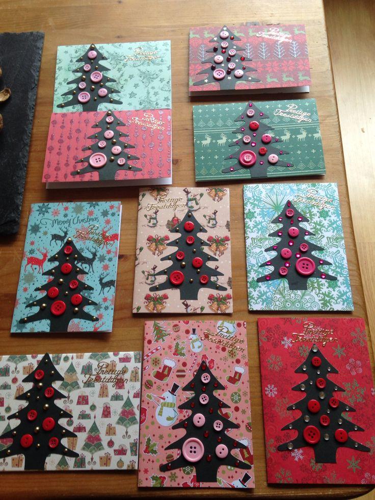 Kerstkaarten met knopen