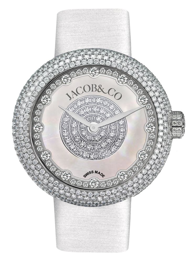 Jacob Co.'s Brilliant Collection with Stainless Steel Case and Full Pavé Round Diamonds #JacobArabo #JacobandCo. #Brilliant