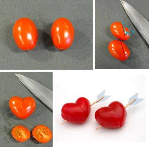 tomato hearts romantic apero