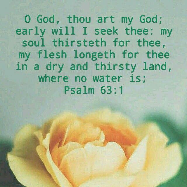 Psalm 63:1 KJV