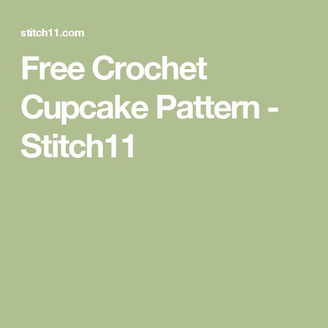 Free Crochet Cupcake Pattern - Stitch11