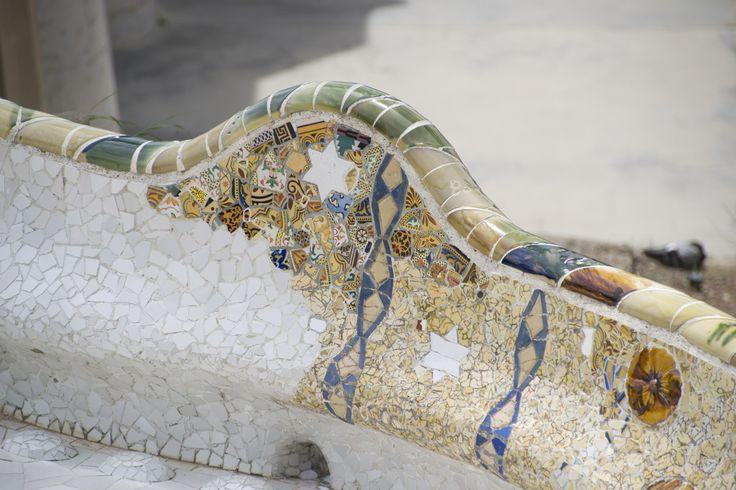 Parco Guell - Dettaglio seduta spianata rialzata