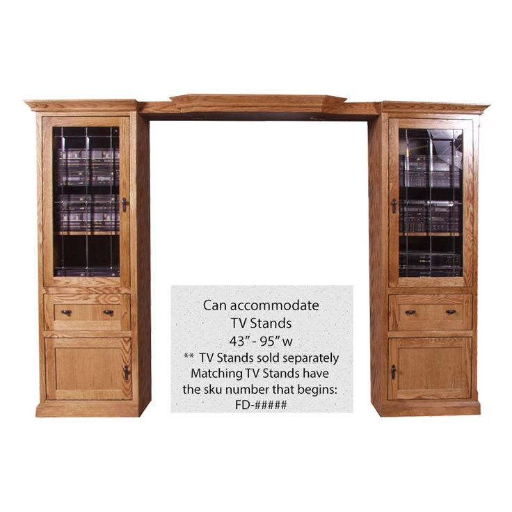 FD-4174M - Mission Oak 3 Piece Entertainment Wall Unit