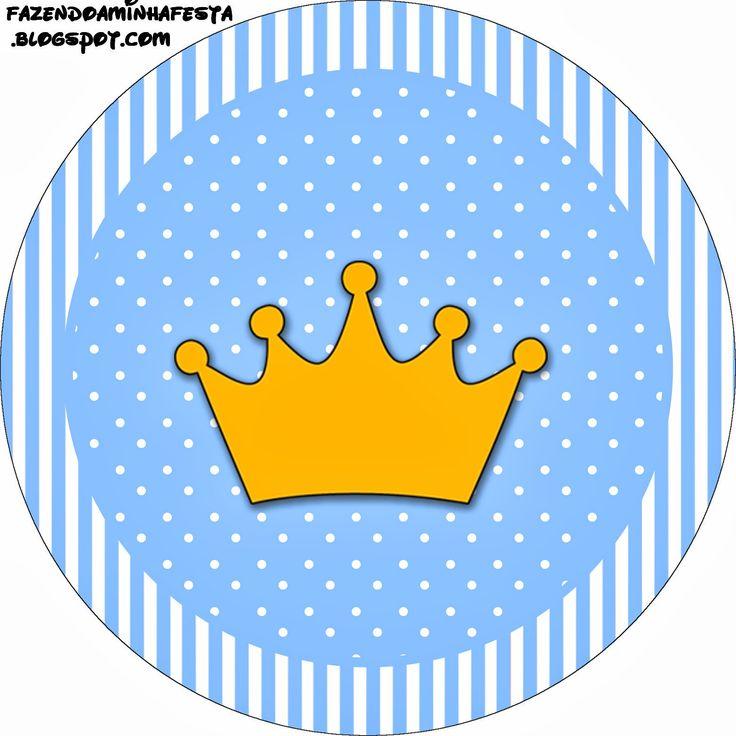 Coroa Príncipe - Kit Completo com molduras para convites, rótulos para guloseimas, lembrancinhas e imagens!