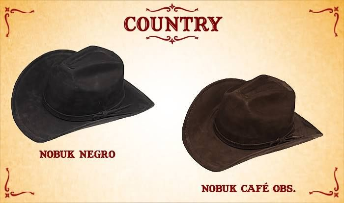 #Sombreros modelo country, negro y café obscuro