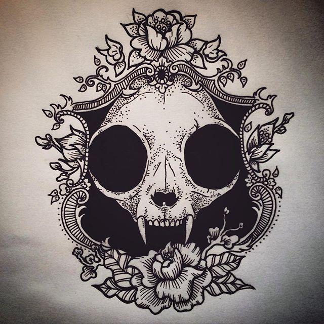 Animal sugar skull tattoo - photo#34