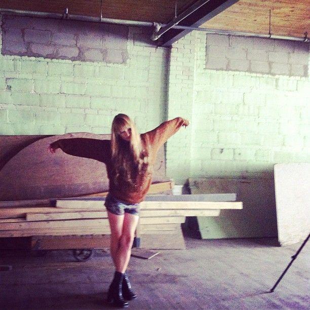 Behind the scenes w/ @kliscoverdale #toyc #mtl #lookbook