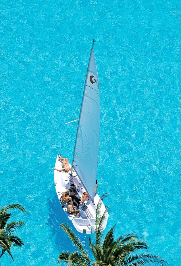 The Crystal Lagoon, located at the San Alfonso del Mar resort in Algarrobo, Chil