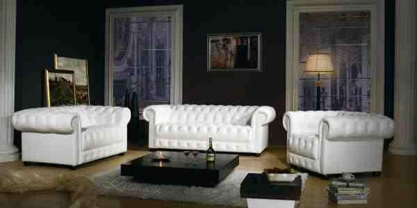 Chesterfield Leather Sofa, UK Manufactured, Leather Sofas, Traditional Sofas