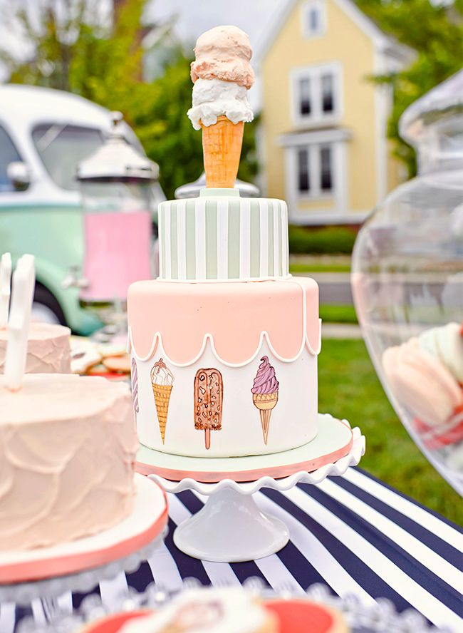 Playful & Retro Kids' Ice Cream Party - Inspired By This