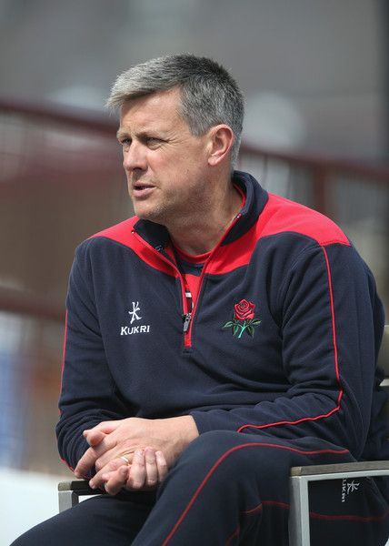Ashley Giles Photos Photos - Ashley Giles, the Lancashire head coach, looks on during day three of the LV  Division Two County Championship match between Northamptonshire and Lancashire  held at the County Ground on May 5, 2015 in Northampton, England. - Northamptonshire v Lancashire - LV County Championship