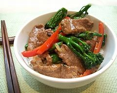 Five spice lamb and brocollini stirfry