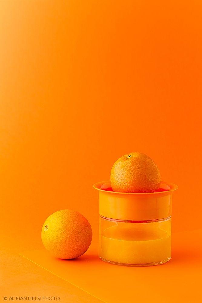 Oranges Monochromatic Still Life (by Adrian Delsi)