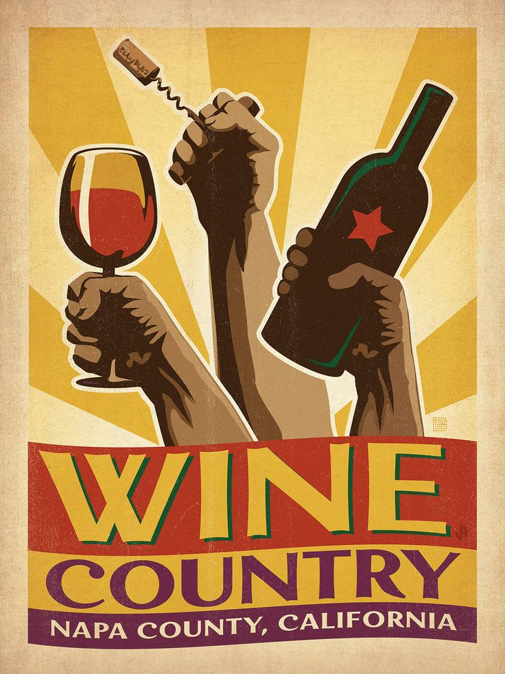 East Urban Home Wine Country Vintage Advertisement Size