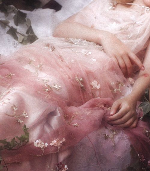 "Dakota Fanning in ""Sleeping Beauty"" shot by Karl Lagerfeld for Vanity Fair [2nd of two pins]"