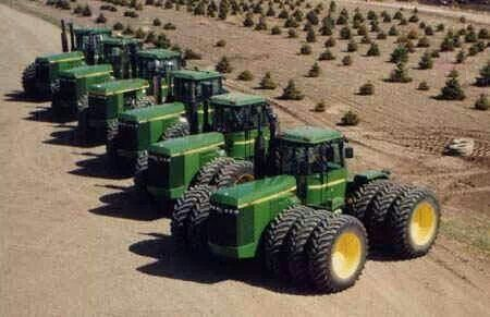 John Deere FWD's.8850s can be seen here