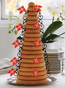 Kransekage Recipe in English - http://www.ambbrasilia.um.dk/en/menu/InfoDenmark/DanishRecipes/Desserts/