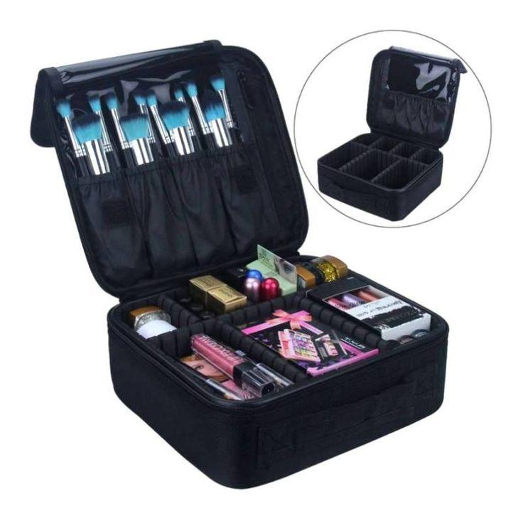 LHLYSGS Brand Upgrade Adjustable Women Professional Makeup Bag Travel Waterproof Organizer Tattoo Nail Art Tool Cosmetic Case