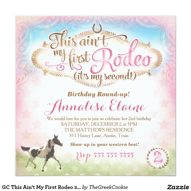110 best kaylas 4th birthday images on pinterest birthdays 4th gc this aint my first rodeo 2nd birthday card 2nd birthday invitations4th bookmarktalkfo