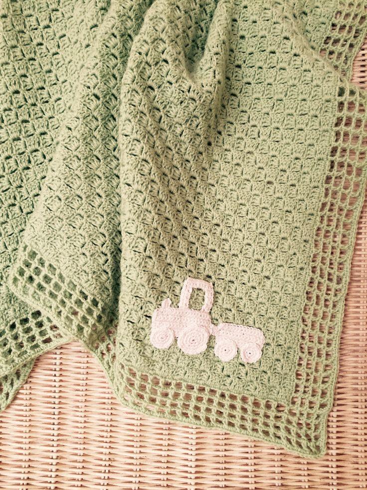 Hæklet babytæppe  Crochet blanket