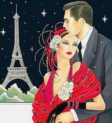 Оригинал схемы вышивки «Романтический Париж»