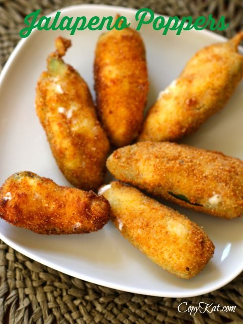 Homemade Jalapeno Poppers - these are easy to make and they taste so much better than the frozen ones you can buy.  #jalapeno #copycat recipe from CopyKat.com