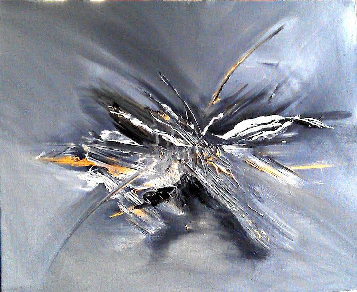 46 best peintures au couteau images on pinterest - Peinture noir et blanc moderne ...