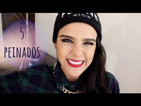¡5 PEINADOS MUY FÁCILES! -DE LUNES A VIERNES- ♥Yuya - YouTube