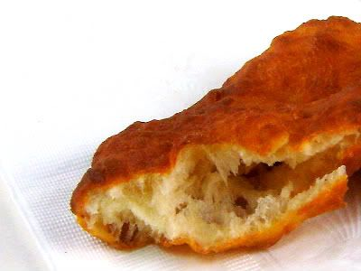 Fry Bread. The bread is traditionally made with lard and its texture depends on how it is fried. When deep fried it is fluffy and has a texture similar to Yorkshire pudding or popovers. When shallow fried, it is crisp and has a decided cracker-like crunch when bitten. This bread, like all fried doughs, is best eaten straight from the fryer.