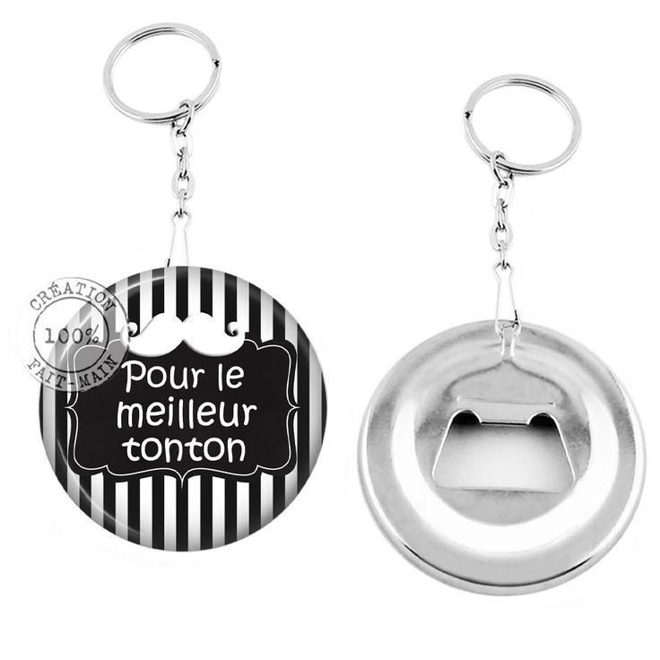 Porte clé décapsuleur / cadeau pour le meilleur tonton : Porte clés par bijoux-martika-creation