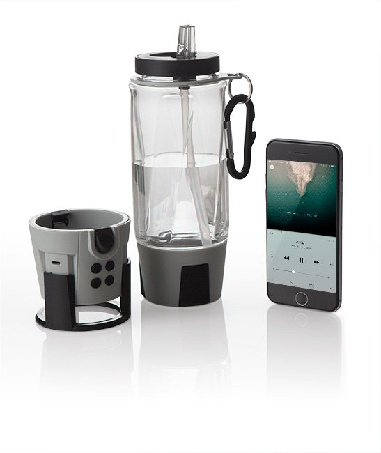 If your water bottle doesn't have a premium 5W Bluetooth speaker, hands-free speakerphone, FM radio, 4000 mAh power bank, RGB LED lights with three color modes, hidden storage, a carabiner with bottle opener, and a free app - you're just drinking water.