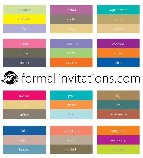29 best color palettes images on invitation